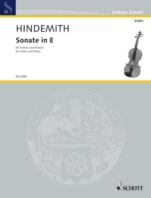 Sonate in E 1935 - Paul Hindemith - Partition - laflutedepan.com