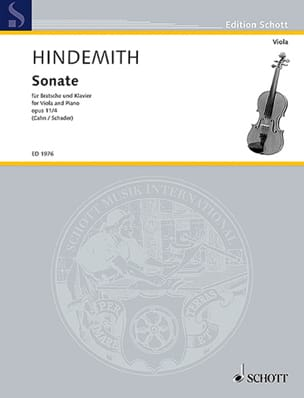 Paul Hindemith - Sonate, op. 11 n° 4 - Partition - di-arezzo.fr