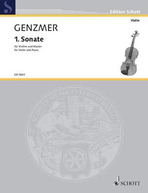 Sonate Nr. 1 – Violine Klavier - Harald Genzmer - laflutedepan.com