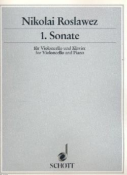 Sonate Nr. 1 1921 - Nikolai A Roslawez - Partition - laflutedepan.com