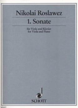 Nikolai Roslawez - Sonate n° 1 1926 - Viola - Partition - di-arezzo.fr