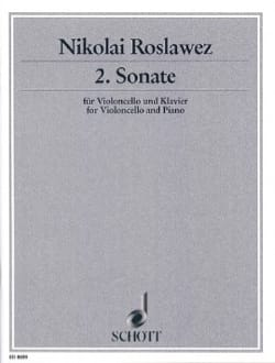 Sonate n° 2 - Cello - Nikolai Roslawez - Partition - laflutedepan.com