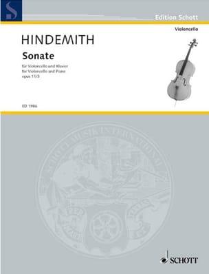 Sonate Op. 11 N° 3 HINDEMITH Partition Violoncelle - laflutedepan