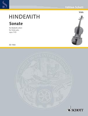 Paul Hindemith - Sonate, op. 11 n° 5 - Partition - di-arezzo.fr