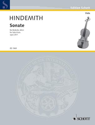 Paul Hindemith - Sonate, op. 25 n° 1 - Partition - di-arezzo.fr