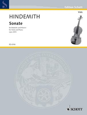 Sonate, op. 25 n° 4 Paul Hindemith Partition Alto - laflutedepan