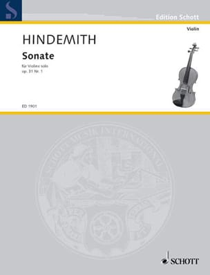 Paul Hindemith - Sonate op. 31 n° 1 - Partition - di-arezzo.fr