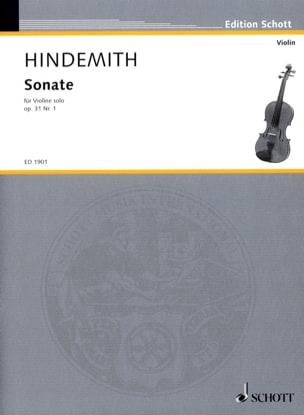 Paul Hindemith - Sonata op. 31 n ° 1 - Sheet Music - di-arezzo.co.uk