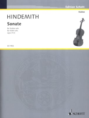 Paul Hindemith - Sonate opus 31 n° 2 - Partition - di-arezzo.fr