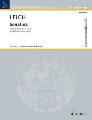 Sonatina Walter Leigh Partition Flûte à bec - laflutedepan