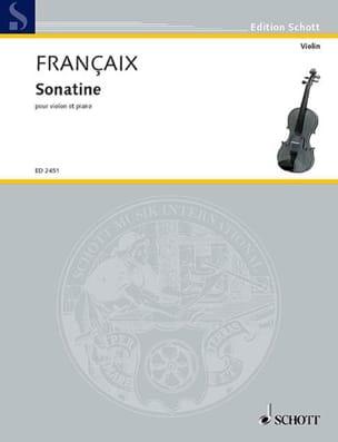 Jean Françaix - Sonatine - Partition - di-arezzo.fr