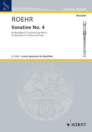 Sonatine Nr. 4 B-Dur -C-Blockflöte - Walter Roehr - laflutedepan.com