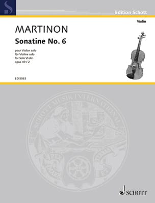 Jean Martinon - Sonatine No. 6, op. 49 n ° 2 - Sheet Music - di-arezzo.co.uk
