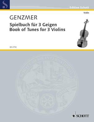 Spielbuch für 3 Geigen - Harald Genzmer - Partition - laflutedepan.com