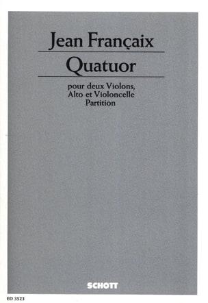 Quatuor à cordes 1938 - Score - FRANÇAIX - laflutedepan.com