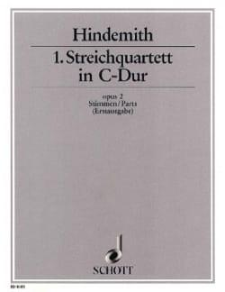 Streichquartett Nr. 1 op. 2 C-Dur - Paul Hindemith - laflutedepan.com