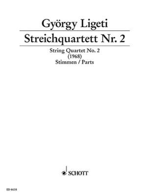 György Ligeti - Streichquartett Nr. 2 1968 - Stimmen - Partition - di-arezzo.fr