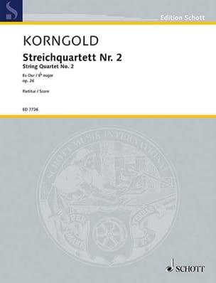 Streichquartett Nr. 2 Es-Dur op. 26 - Partitur - laflutedepan.com