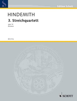 Paul Hindemith - Streichquartett Nr. 3 (Früher : Nr. 2) op. 16 –Stimmen - Partition - di-arezzo.fr