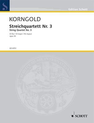Streichquartett Nr. 3 D-Dur –Partitur + Stimmen - laflutedepan.com