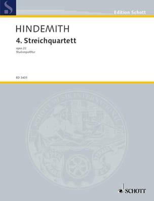Streichquartett Nr. 4 op. 22 -Partitur HINDEMITH laflutedepan