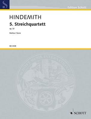 Paul Hindemith - Streichquartett Nr. 5 op. 32 - Partitur - Sheet Music - di-arezzo.com