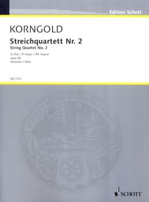 KORNGOLD - Streichquartett Nr. 2 Es-Dur op. 26 - Stimmen - Sheet Music - di-arezzo.co.uk