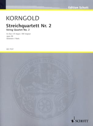 Streichquartett Nr. 2 Es-Dur op. 26 – Stimmen - laflutedepan.com
