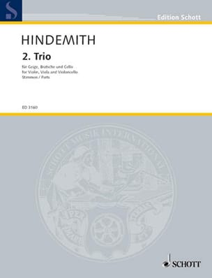 Paul Hindemith - Streichtrio Nr. 2 - Stimmen - Sheet Music - di-arezzo.co.uk