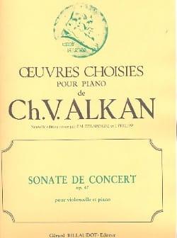 Sonate de Concert Op.47 ALKAN Partition Violoncelle - laflutedepan