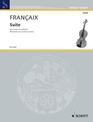 Suite - Jean Françaix - Partition - Violon - laflutedepan.com