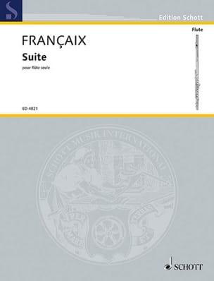 Jean Françaix - Suite - Flute alone - Sheet Music - di-arezzo.co.uk