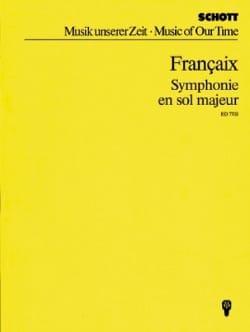 Symphonie en sol majeur - Jean Françaix - Partition - laflutedepan.com