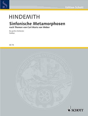 Symphonische Metamorphosen - HINDEMITH - Partition - laflutedepan.com