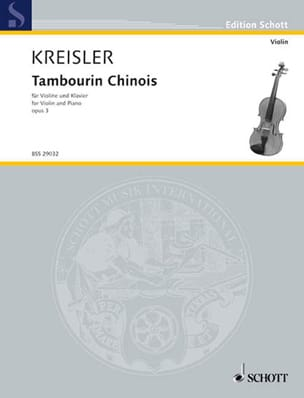 Fritz Kreisler - Chinese Tambourine Opus 3 - Sheet Music - di-arezzo.co.uk