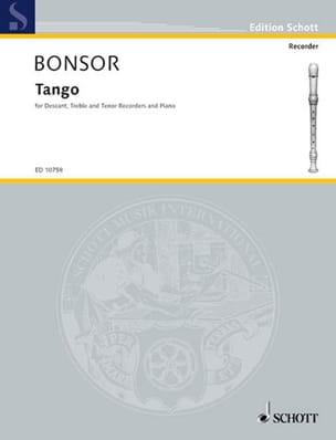 Brian Bonsor - Tango -descant, treble, tenor recorders piano - Partition - di-arezzo.fr