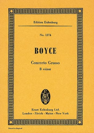 Concerto grosso h-Moll - William Boyce - Partition - laflutedepan.com