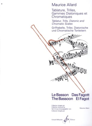 Maurice Allard - Tablature, trilli scale diatoniche e cromatiche - Partitura - di-arezzo.it