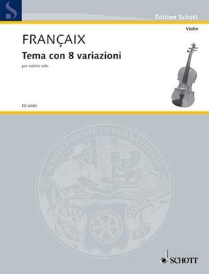 Tema con 8 variazioni - Violon - Jean Françaix - laflutedepan.com