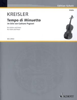 Fritz Kreisler - Tempo di Minuetto im Stile by G. Pugnani - Partition - di-arezzo.com