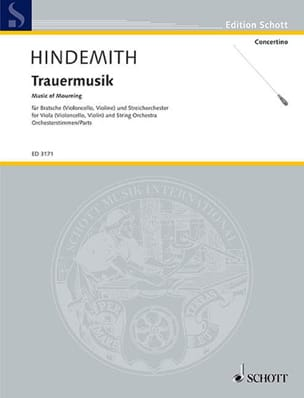 Trauermusik -Orchesterstimmen HINDEMITH Partition laflutedepan