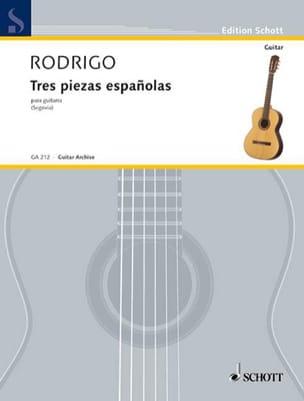 Joaquín Rodrigo - 3 Piezas espanolas - Partition - di-arezzo.fr