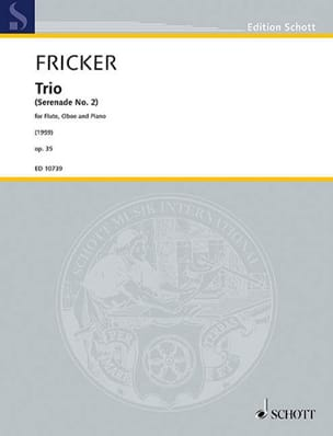 Peter Racine Fricker - Trio op. 35 - Partition - di-arezzo.fr