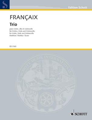 Jean Françaix - Trio à cordes (1933) – Conducteur - Partition - di-arezzo.fr
