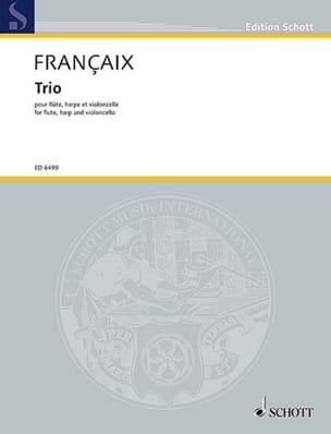 Trio 1971 - Flûte, cello, harpe FRANÇAIX Partition laflutedepan