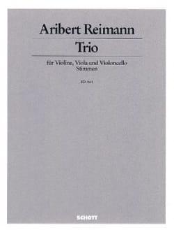 Trio 1987 - Aribert Reimann - Partition - Trios - laflutedepan.com