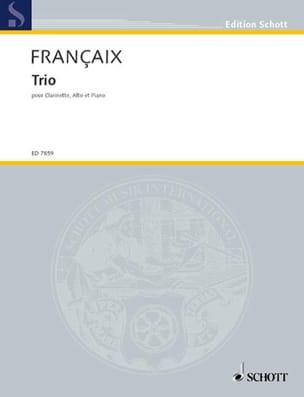 Trio -Clarinette alto et piano FRANÇAIX Partition laflutedepan