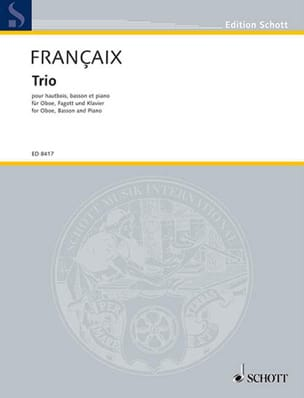 Jean Françaix - 1994 Trio - Oboe, bassoon and piano - Sheet Music - di-arezzo.co.uk