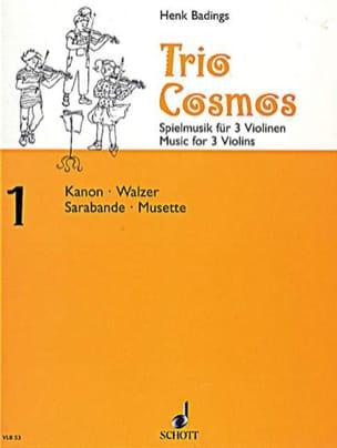 Henk Badings - Trio-Cosmos n ° 1 - Partitura - di-arezzo.es