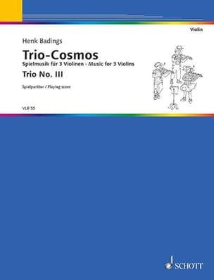 Trio-Cosmos n° 3 - Henk Badings - Partition - laflutedepan.com